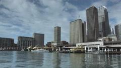 Timelapse - Sydney Harbour, Buildings, Circular Quay & Ferries. 0012 Stock Footage