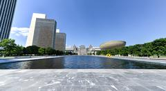 Empire state plaza in albany, new york Stock Photos