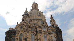 The Dresden Frauenkirche - Church of Our Lady. Germany. Stock Footage