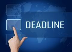 deadline - stock illustration