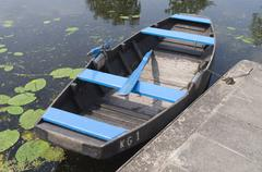 Rowing boat for rent. Stock Photos