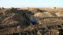 Pipeline trench - stock footage