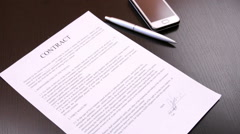 Termination of a contract Stock Footage