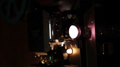 Film Projector Pans Stock Footage