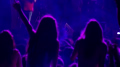Girls dancing in a concert Stock Footage