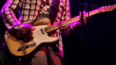 Guitarist in concert Stock Footage