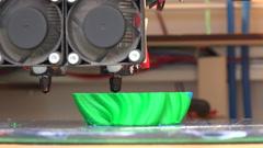 Working 3d printer. 4K. Stock Footage