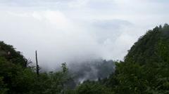Timelapse view in Mount Emei HD Stock Footage