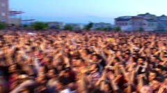 Crowd people in concert Stock Footage