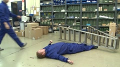 Occupational accident Stock Footage
