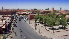 High angle time lapse of a street in Marrakesh Stock Footage