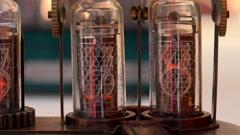 Vacuum tube, numbers. 4K. Stock Footage