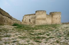 Bastion in old turkish stronghold akkerman (white fortress),Ukraine Stock Photos