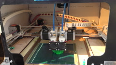 Working 3d printer. 4K. Stock Footage
