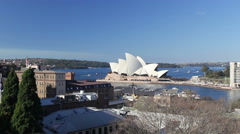 Sydney Opera House from afar HD Stock Video Stock Footage