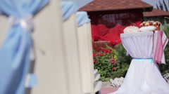 Decorated wedding elements Stock Footage
