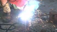 Stock Video Footage of Welder