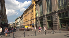 Malaya sadovaya street in St. Petersburg. 4K. Stock Footage