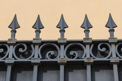 Metal wrought fence Stock Photos