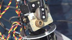 Pinion mechanism of the robot. 4K. Stock Footage