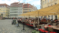 Restaurant in the old town - Dresden, Germany Stock Footage