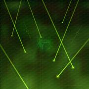 green lasers - stock illustration