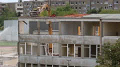 Building Demolition Stock Footage