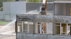 Dirty building demolition Stock Footage