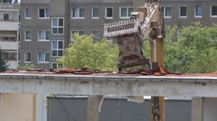 Roof building demolition Stock Footage