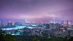 Stock Video Footage of Shenzhen, China City Skyline