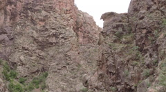 2D jemez cliffs in NM guadalupe canyon - stock footage