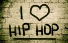 i love hip hop concept - stock illustration