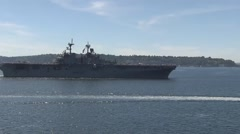 USS Essex (LHD-2) United States Navy Wasp-class amphibious assault ship Stock Footage