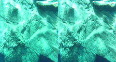 3D blue hole shelf floor Stock Footage