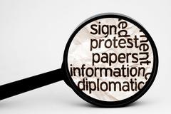 Stock Illustration of protest information