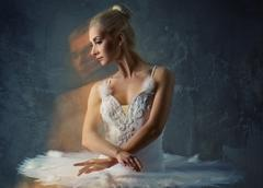 beautiful ballet dancer - stock photo