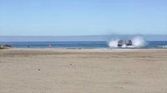 Landing Craft Air Cushion of 4th Tank Battalion Annual Training - stock footage