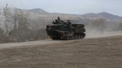 Assault Amphibious Vehicle of the 4th Tank Battalion Annual Training - stock footage