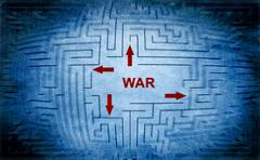 War maze concept Stock Illustration