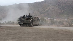 Assault Amphibious Vehicle of the 4th Tank Battalion Annual Training Stock Footage