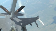 F-16 Fighting Falcon air Refueling Stock Footage