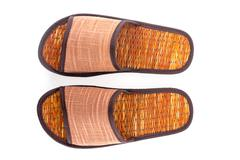 thai sandal made from reed plant - stock photo