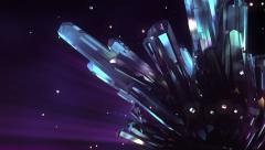 Loopable crystal background - stock footage