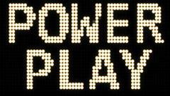Power Play - Hockey Scoreboard LED Stock Footage