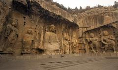 Longmen grottoes Stock Photos