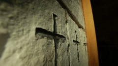 Church Rock Wall Stock Footage