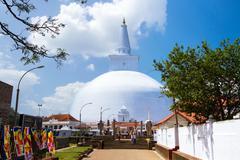 Mirisavatiya dagoba stupa, anuradhapura, sri lanka Stock Photos