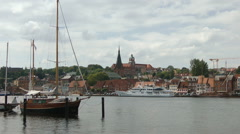 Flensburg (baltic sea), Schleswig-Holstein, Germany - stock footage