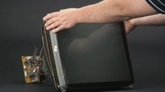 Analog tv kinescope 2 - stock footage