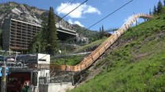 Summer mountain resort thrill ride 4K 329 - stock footage